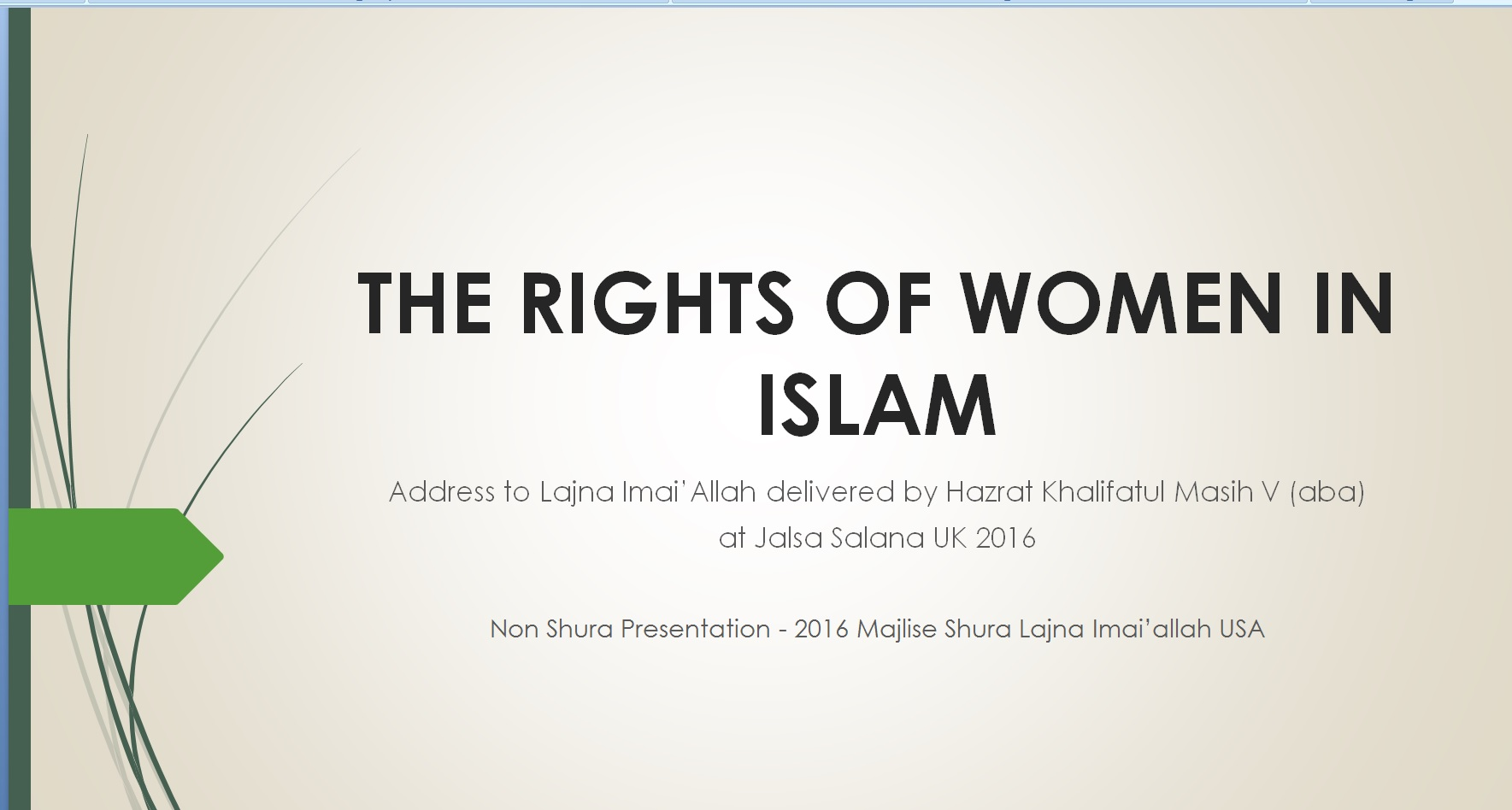 right of women in islam essay Free college essay thesis for women in islam paper ashley isbrandtsen phil 2691 due: 11/2/06 research paper thesis in my research paper, i will argue that the way that.